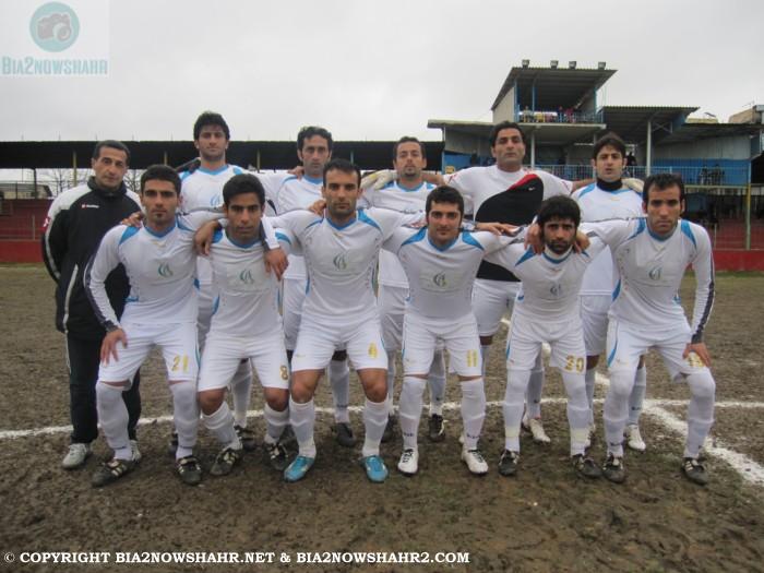عکس دسته جمعی تیم فوتبال شهرداری نوشهر: